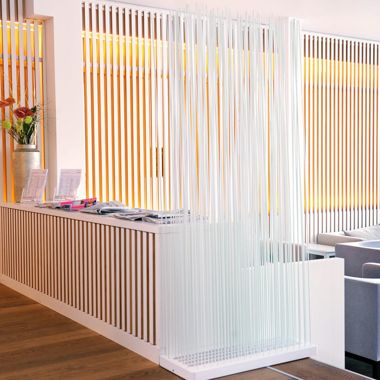 bambus paravent als raumteiler wei 180cm online kaufen. Black Bedroom Furniture Sets. Home Design Ideas